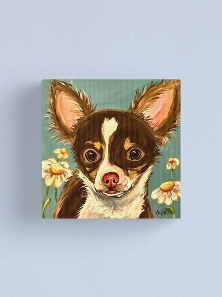 Chihuahua Art Whimsical Dog Art Gizmo Canvas Poster Wall Art Home Decor Unisex Tshirt