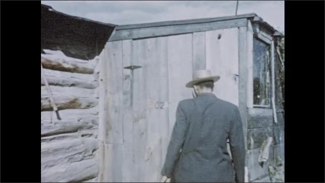 1950s: Church missionary enters Native American reservation, knocks upon door, is welcomed by Sioux Christian woman.