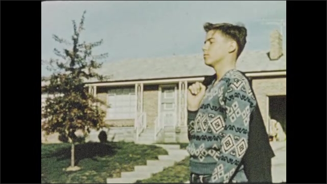 1950s: Troubled teen views affluent suburban neighborhood with envy.
