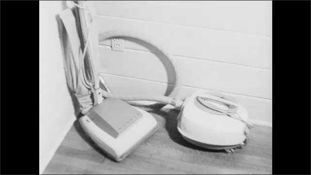 1960s: Refrigerator in kitchen. Clothing iron. Freezer. Vacuum cleaner. Dishwasher. Water pump. Saws. Electrical equipment.