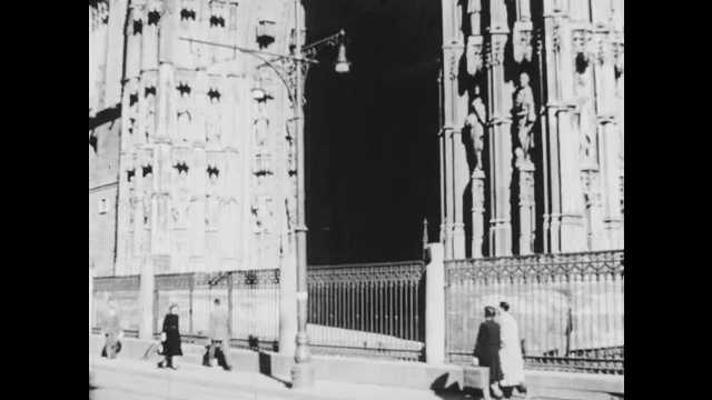 1960s: Cathedral. Building with architectural details. Ancient ruins.
