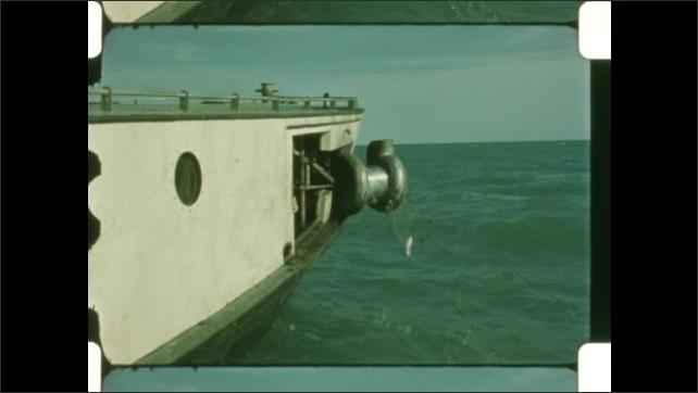 1950s: Net retracted into boat.