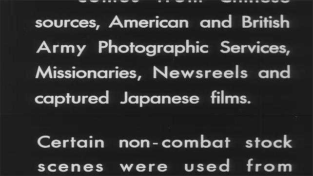 1940s: The letter V. Intertitles.