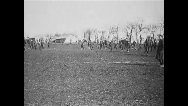 1910s: People playing with balls on field.
