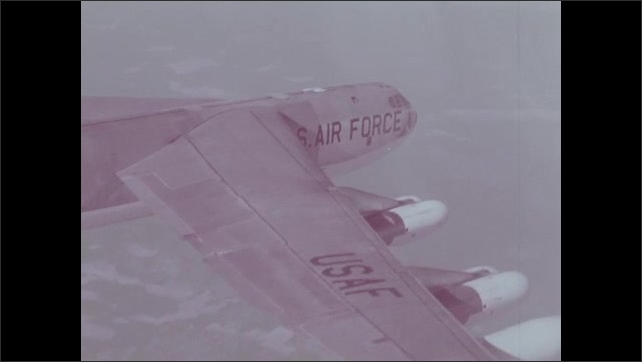 1960s: United States Air Force jet in flight.