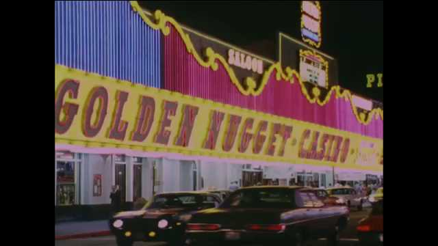 1960s: Neon sign for Golden Nugget Casino. Neon sign for The Mint. Neon sign for the Stardust.