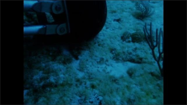 1960s: Submarine under water.