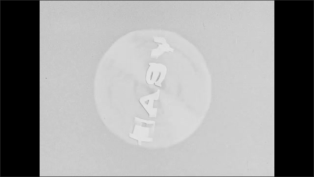 1960s: The word easy floats on screen, spins together. Washing machine. Clothes and water spin around inside washing machine drum.