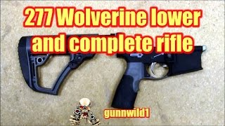 277 Wolverine lower and complete rifle