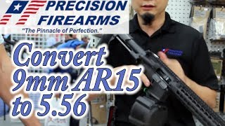 Precision Firearms - AR platform rifle - 9mm convert to 5.56 and back to 9mm - Gear-Report.com