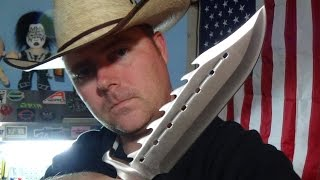 TR83 Sinful Spiked Bowie Timber Rattler Knife from BUDK