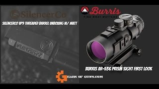 Burris AR 536 and SilencerCo VP9 Threaded Barrel First Look