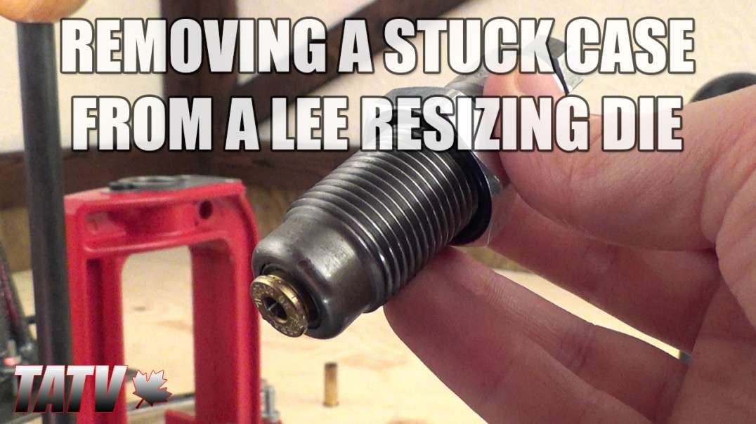 Removing a Stuck Case from a Lee Resizing Die