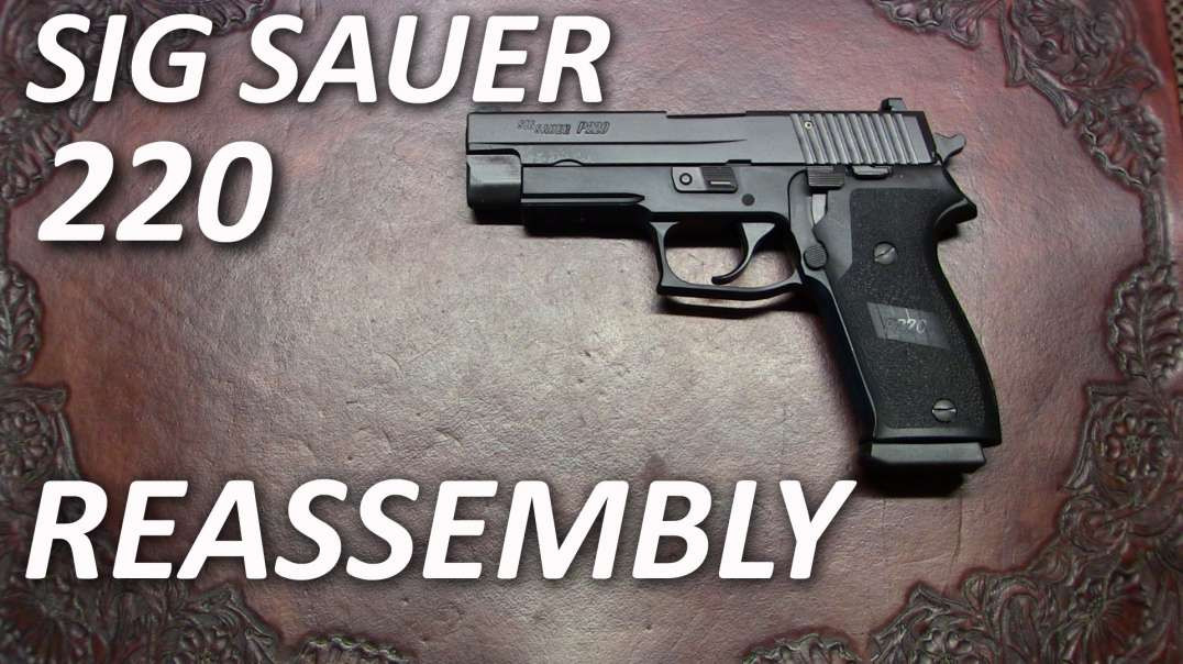 Sig Sauer 220 Reassembly (after Detail Strip)
