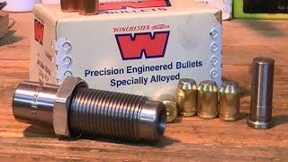 Swaging 44 mag bullets from 40 cal brass using mauser loading dies!
