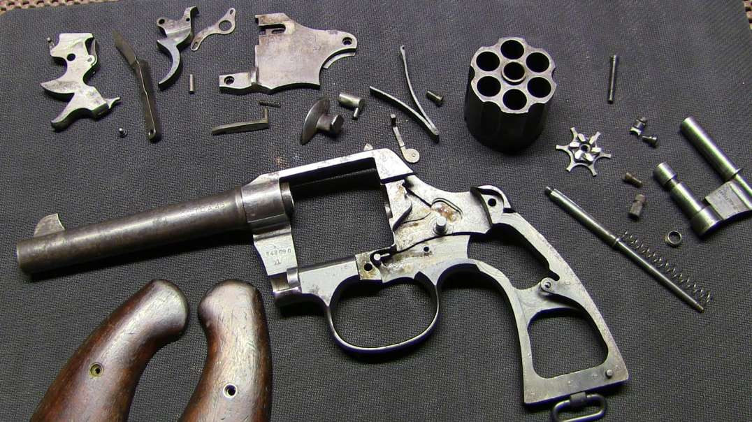 Colt 1917 Army DA .45acp Complete Disassembly (Detail Strip)