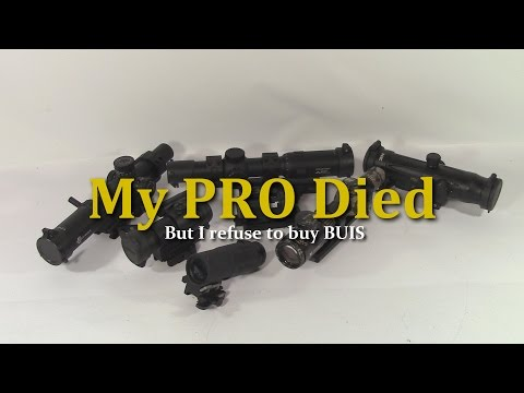 My Aimpoint PRO Died, but I refuse to buy BUIS for every gun I own