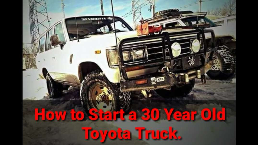How to Start a 30 Year Old Toyota in the Cold