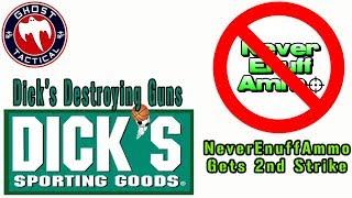 """NeverEnuffAmmo Gets 2nd Stirke & Dick's Sporting Goods DESTROYING Unsold """"Assault Weap"""