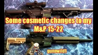 Cosmetic changes to my M&P 15-22
