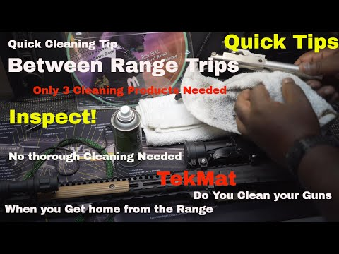 """Quick Tips """"After the Range"""" Gun Cleaning Tip (#lifeisshwell)"""
