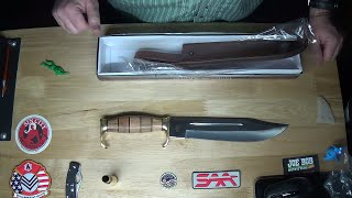 TR142 Timber Rattler Wilderness Legacy HUGE Bowie Knife Unboxing