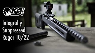 Integrally Suppressed Ruger 10/22 - KGMade EOS-22
