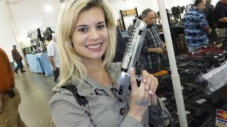 Girls at Gun shows!  My 1st Gun Show!!!  Ditzy me learning about guns!!  American Gun Chic #3