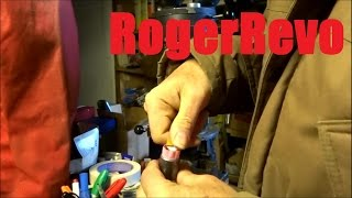 Reloading dummy shotgun shells to practice reloading the shotgun