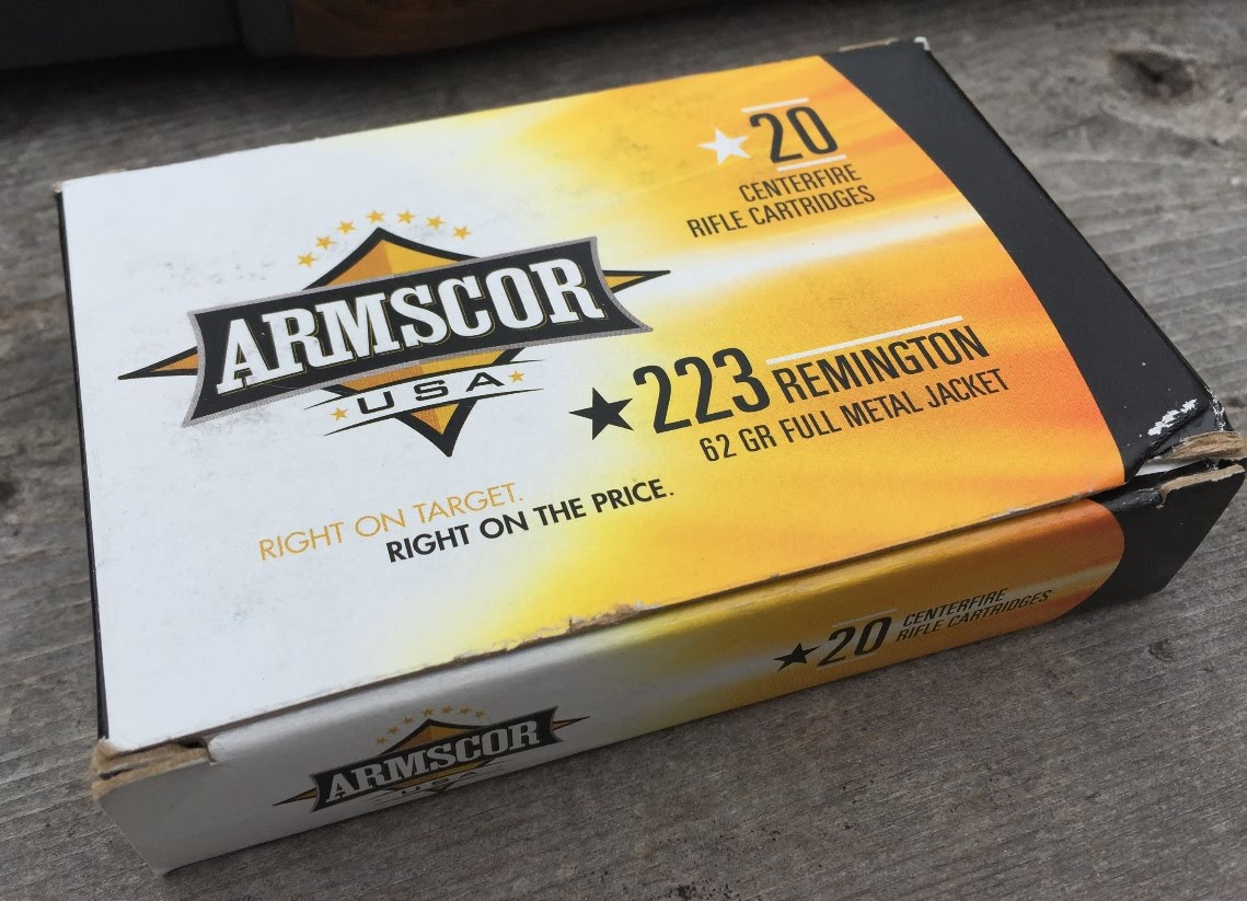 .223 Remington, 62gr FMJ, Armscor, Velocity Test