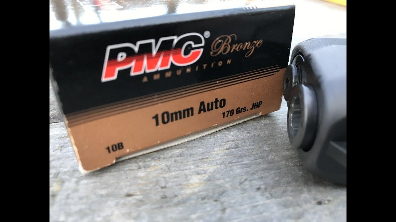 10mm Auto (10x25mm), 170gr JHP, (#10B) PMC Bronze, Velocity Test
