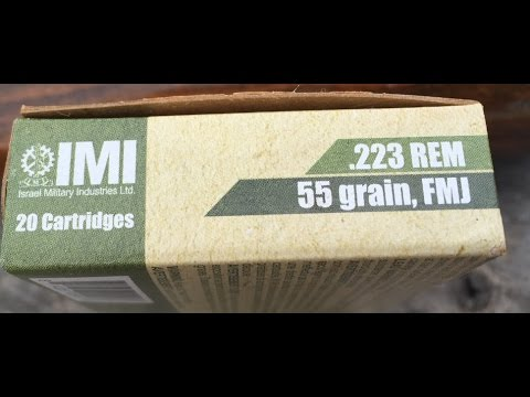 .223 Remington, 55gr FMJ, IMI, Velocity Test (White/Tan Box)