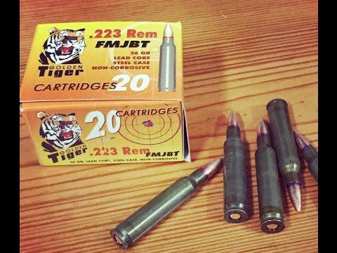 .223 Remington, 55gr FMJ, Golden Tiger, Velocity Test, Redeemed?