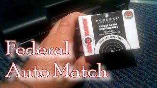 Federal Automatch 22 Ammo   Performance