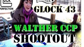 Glock 43 vs Walther CCP | Two gun shootout