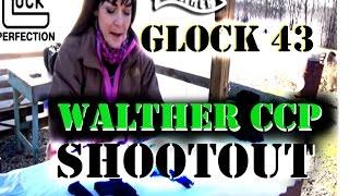 Glock 43 vs Walther CCP | Two gun shootout