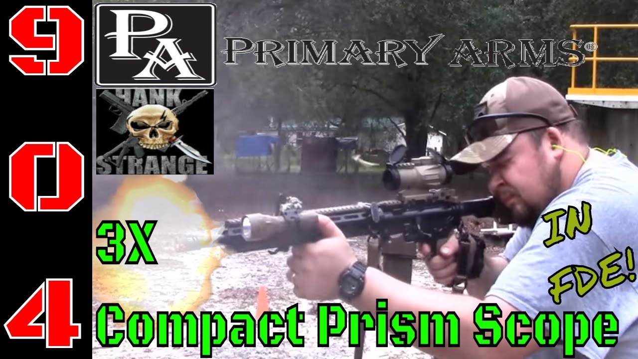 Primary Arms 3X ACSS Compact Prism Scope in FDE (HD)