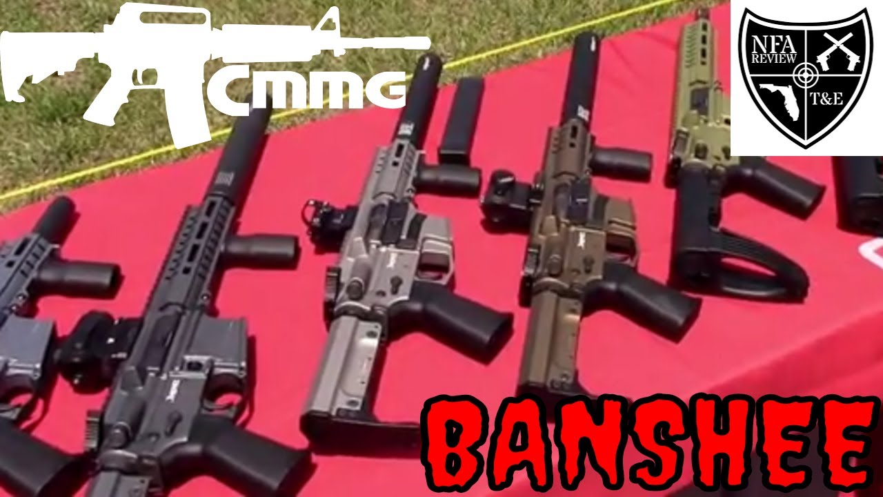 The Best 9mm PDW? The CMMG Banshee SBR and DefCan Suppressor - At NFA Review Shoot 2018