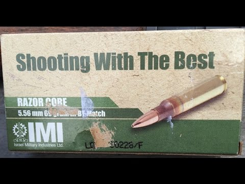 "5.56x45mm, 69gr HP BT Match ""Razor Core"", IMI Ammunition, Velocity Test"
