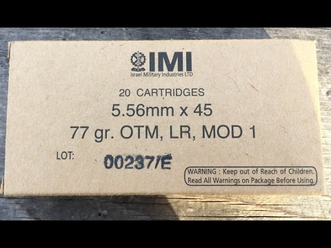 "5.56x45mm, 77gr HP BT Match ""Razor Core"" (MK262), IMI Ammunition, Velocity Test"