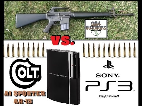 Will A Playstation 3 Stop a .223/5.56mm from an AR-15?