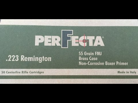 .223 Remington, 55gr FMJ Perfecta, Velocity Test