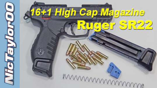 ruger sr22 16 1 rd magazine upgrade for tk wingman high capacity basepad