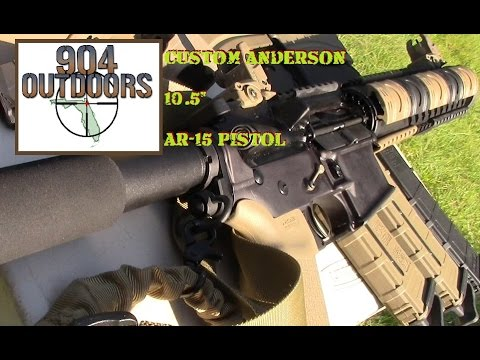 "Custom Anderson 10.5"" AR-15 Pistol at the range for a review!"