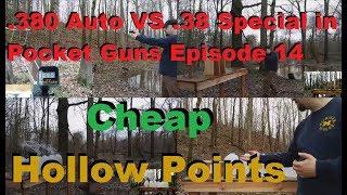 .380 Auto VS .38 Special in Pocket Guns Episode 14-American Gunner Ammunition