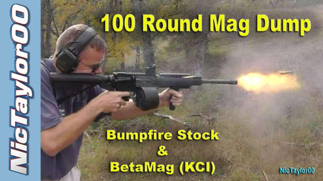 100 Round Mag Dump with the AR15 Bump Stock