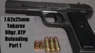 7.62x25mm Tokarev with 90gr. XTP and W296
