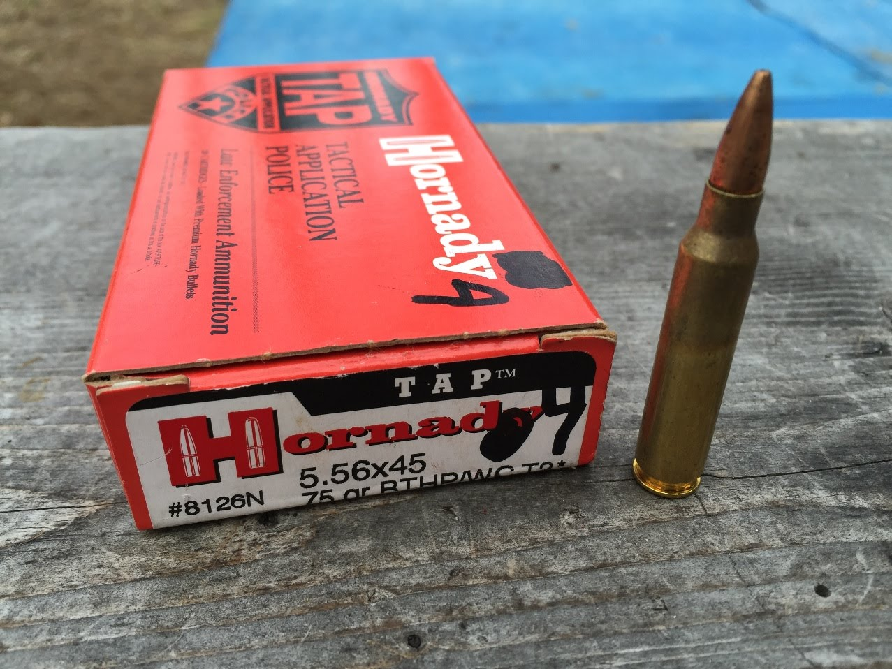 "5.56x45mm, 75gr BTHP T2*, Hornady TAP (8126N), Velocity Test, 20"" Barrel"