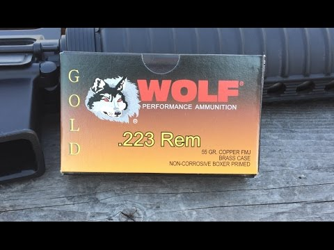 .223 Remington, 55gr FMJ, Wolf Gold, Velocity Test