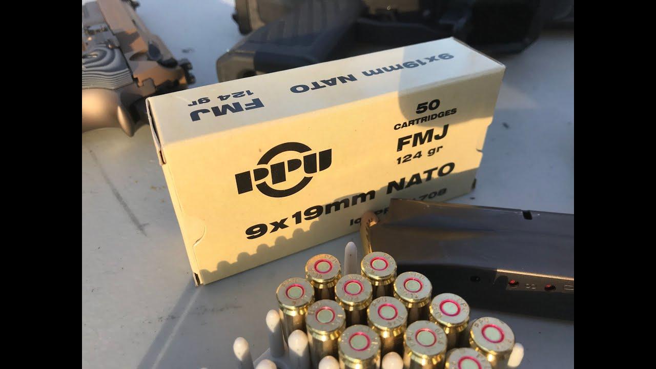 9x19mm NATO, 124gr FMJ, Prvi Partizan (PPU) Velocity Test